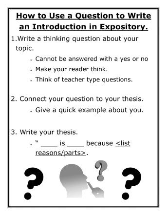 Question Expository Intro